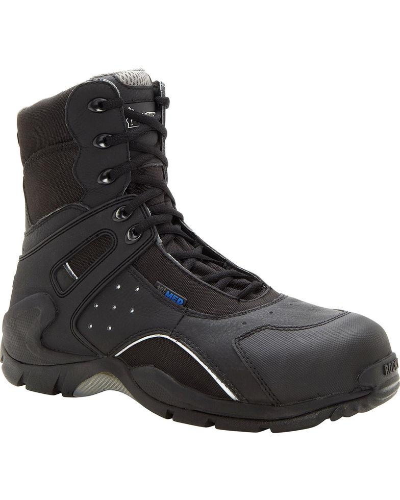 36fb81e1bcf ROCKY 1ST MED CARBON FIBER TOE PUNCTURE-RESISTANT SIDE-ZIP WATERPROOF DUTY  BOOT
