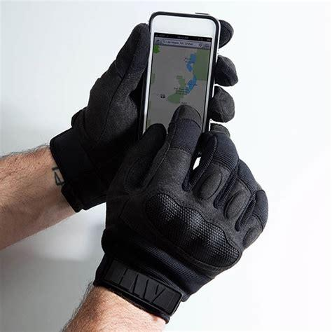 Leather Fingertips Hwi Hard Knuckle Touch Screen Duty Gloves Melbourne Australia